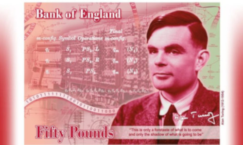 Alan Turing on the new design of the Bank of England's £50 note
